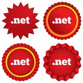 Domain NET sign icon. Top-level internet domain