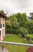 House, balcony, panoramic view, garden