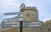 Sign With Windsor Castle In The Background.