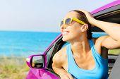 Car Woman Driver Happy