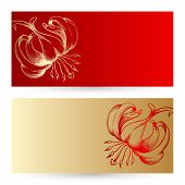 Two Vector Invitation Cards.