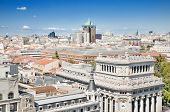 Madrid cityscape scenic view Madrid Spain .