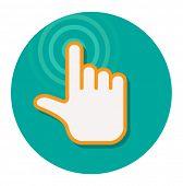 hand pointer cursor flat icon design element