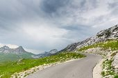 Mountain and road landscape of Montenegro