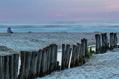picture of sea-scape  - Sunset over the sea - JPG
