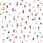 Vector tribal inspired seamless geometric pattern with triangles