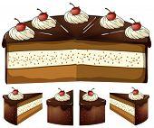 Illustration of chocolate cake