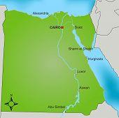 Постер, плакат: Карта Египет