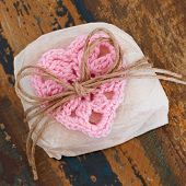 Brazilian Wedding Sweet Bem Casado With Pink Crochet Heart (gift)