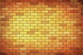 An Old Grunge Red Brick Wall