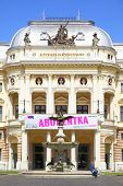 BRATISLAVA, SLOVAKIA - JUNE 26, 2014: Building of Slovak National Theatre
