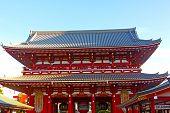 Pavilion in Senso-Ji Temple in Asakusa Tokyo, Japan.