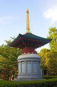 Statue near Awashimado Hall pavilion of Senso-ji Temple of Tokyo, Japan.