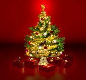 gleaming christmas tree