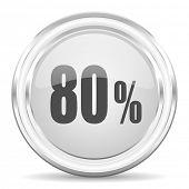 80 percent internet icon