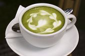 Green Tea Latte/coffee Art