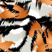 Wild Tiger Stripes In A Seamless Pattern