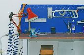 Metal Workbench In Technology Facility Room