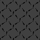 The exclamation point web icon. flat design. Seamless gray pattern.