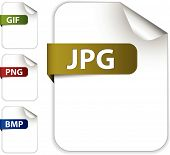 picture of png  - Vector set of icons for image file extensions  - JPG