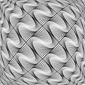 Design Monochrome Warped Grid Diamond Pattern