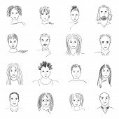 pic of cartoon people  - Hand - JPG