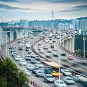 Xiamen Haicang Bridge At Dusk Closeup