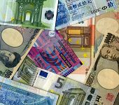 Background. Yens, Euro And Hk Dollars