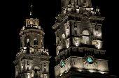 Illuminated Cathedral, Mexico