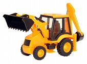 Yellow Toy Tractor Excavator