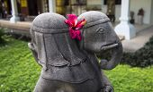 stock photo of vedic  - the lord of ganesha hugging each other statue - JPG