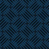 Vector Seamless Pattern - Diagonal Blue And Black Abstract Background