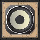 wooden loudspeaker