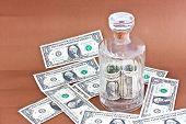 the dollar money