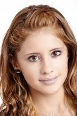 Studio Portrait Of Young Beautiful Girl