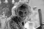 Eighty Year-old Begging Woman