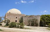 Fortress Of Fortezza In Rethymno And The Mosque. Crete. Greece