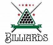 Billiards club emblem