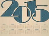 Simple Landscape Calendar For 2015