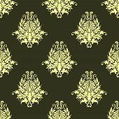 Retro yellow or light olive seamless pattern