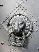 Old Door With Lion Head