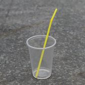 Plastic Cup With Straw