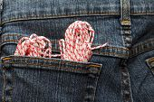 Rope In A Pocket Of Jeans