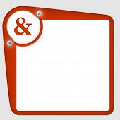 Red Frame For Text With Screws And Ampersand