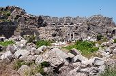 The Ruins Of The Ancient Amphitheater In Side, Turkey