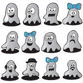 Halloween Set of Ghosts