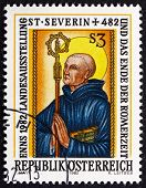 Postage Stamp Austria 1982 Severinus Of Noricum, Roman Catholic