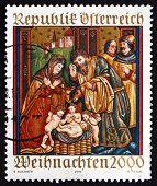 Postage Stamp Austria 2000 Altar Sidewing, Christmas