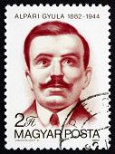 Postage Stamp Hungary 1982 Gyula Alapri, Journalist