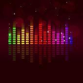 Music Equalizer Multicolor Background
